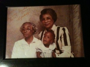 My great-grandmother, grandmother, and me