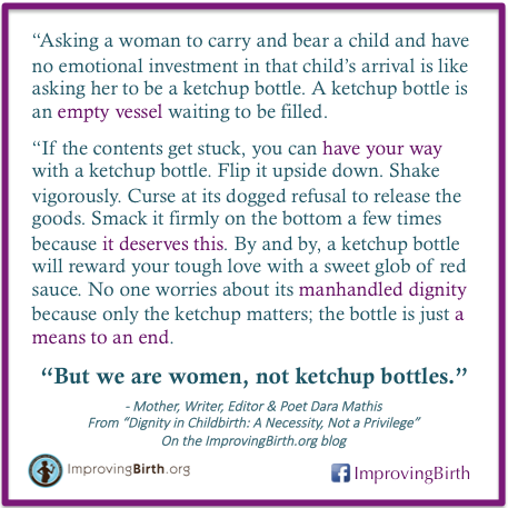We Are Women, Not Ketchup Bottles